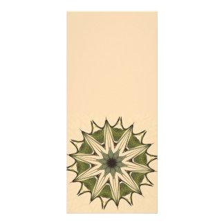 Caleidoscopio floral beige verde tarjeta publicitaria personalizada