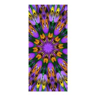 Caleidoscopio floral del pensamiento púrpura tarjetas publicitarias personalizadas