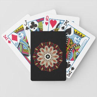 Caleidoscopio floral poner crema cartas de juego