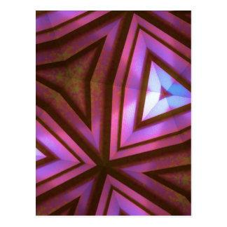 Caleidoscopio fucsia tarjetas postales