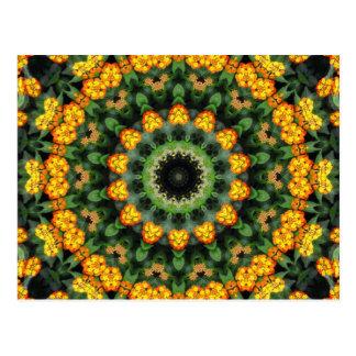 Caleidoscopio hermoso 2 del Lantana del naranja y  Postal