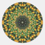 Caleidoscopio hermoso 3 del Lantana del naranja y Pegatina Redonda
