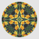 Caleidoscopio hermoso 4 del Lantana del naranja y Etiqueta Redonda