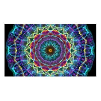 Caleidoscopio interno de la flor tarjetas de visita