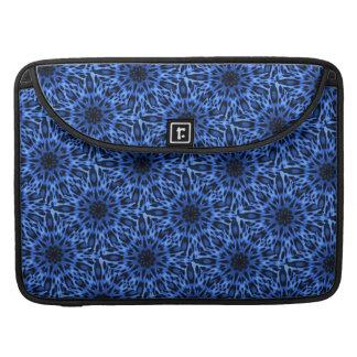Caleidoscopio manchado azul elegante Macbook del Fundas Para Macbooks