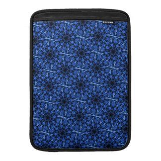 Caleidoscopio manchado azul hermoso del leopardo funda para macbook air