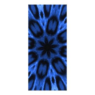 Caleidoscopio manchado azul hermoso del leopardo tarjeta publicitaria
