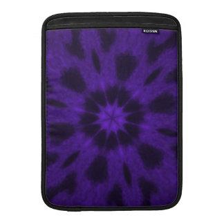 Caleidoscopio manchado de la púrpura del leopardo fundas para macbook air