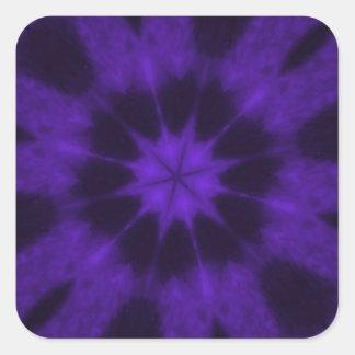 Caleidoscopio manchado de la púrpura del leopardo pegatina cuadrada