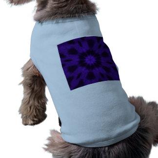 Caleidoscopio manchado de la púrpura del leopardo playera sin mangas para perro