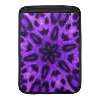 Caleidoscopio manchado del leopardo de la lavanda funda  MacBook