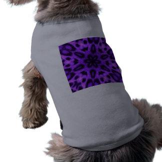 Caleidoscopio manchado del leopardo de la lavanda playera sin mangas para perro