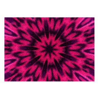 Caleidoscopio manchado del rosa del leopardo plantillas de tarjetas personales