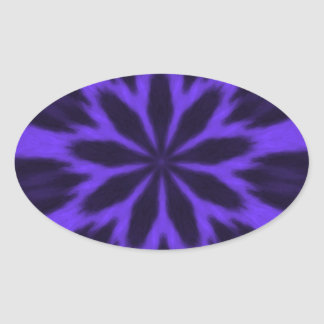 Caleidoscopio manchado púrpura preciosa del pegatina ovalada