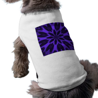Caleidoscopio manchado púrpura preciosa del playera sin mangas para perro