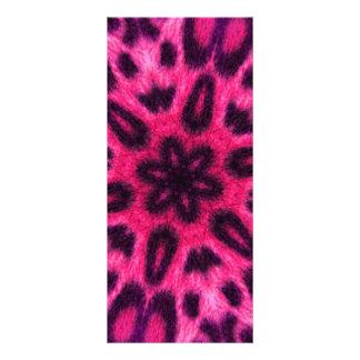 Caleidoscopio manchado rosa adorable del leopardo tarjeta publicitaria personalizada