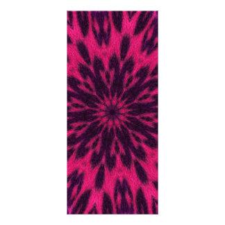 Caleidoscopio manchado rosa del leopardo tarjetas publicitarias