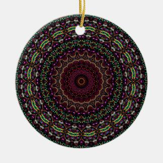 Caleidoscopio marrón de los nuevos círculos linear ornamentos de navidad