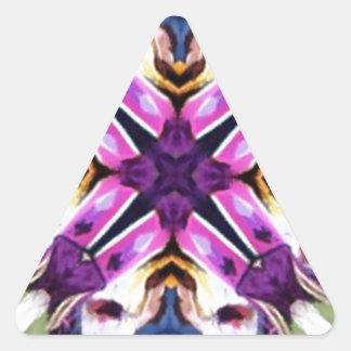 Caleidoscopio precioso del bailarín de la pluma pegatina trianguloada