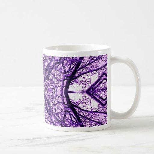 Caleidoscopio púrpura 1 taza clásica