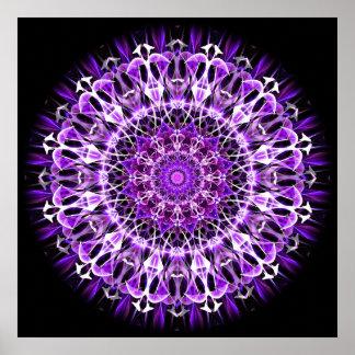 Caleidoscopio púrpura ausente de la mosca posters