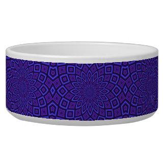 Caleidoscopio púrpura de la conciencia bol para perro