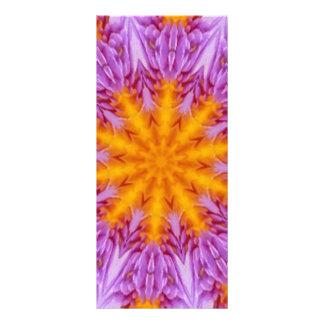 Caleidoscopio púrpura de la flor de Lotus Lona Publicitaria
