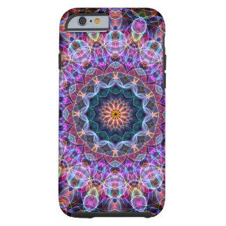 Caleidoscopio púrpura de Lotus Funda Para iPhone 6 Tough