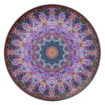 Caleidoscopio púrpura de Lotus Plato Para Fiesta
