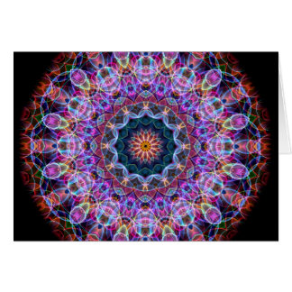 Caleidoscopio púrpura de Lotus Tarjeta De Felicitación