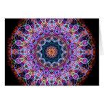 Caleidoscopio púrpura de Lotus Tarjetas