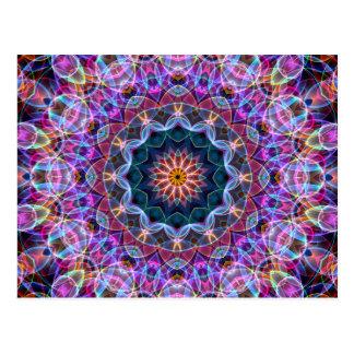 Caleidoscopio púrpura de Lotus Tarjetas Postales