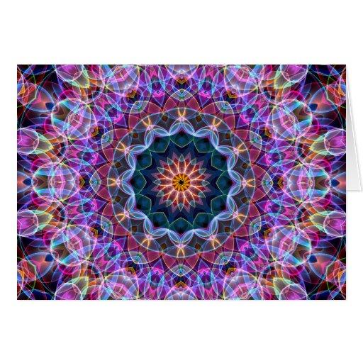 Caleidoscopio púrpura de Lotus Tarjetón