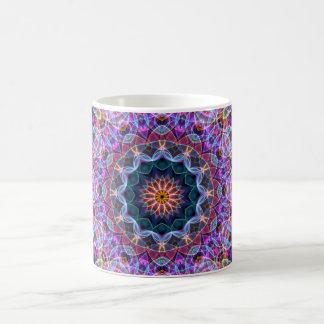 Caleidoscopio púrpura de Lotus Tazas De Café