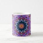 Caleidoscopio púrpura de Lotus Taza Clásica
