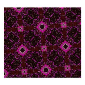 Caleidoscopio púrpura del hexágono impresiones fotograficas