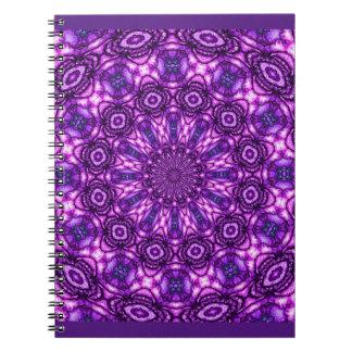 Caleidoscopio púrpura libro de apuntes