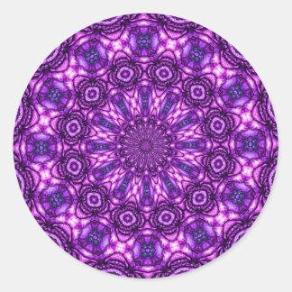 Caleidoscopio púrpura etiqueta