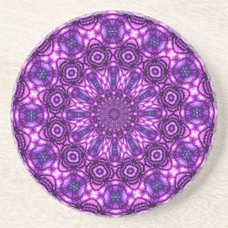 Caleidoscopio púrpura posavasos personalizados
