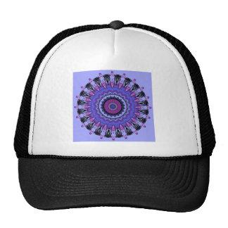 Caleidoscopio púrpura y rosado de la regalía gorras