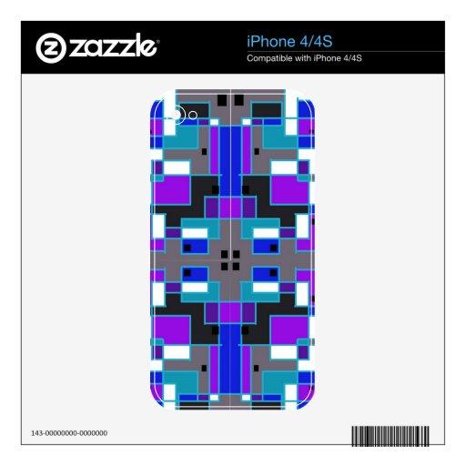 Caleidoscopio rectangular iPhone 4S calcomanías