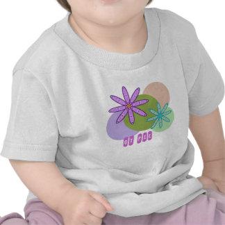Caleidoscopio retro floral y puntos 1 camiseta de