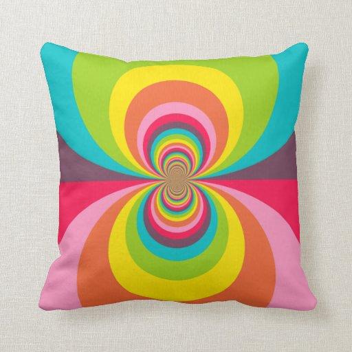 Caleidoscopio retro maravilloso del arco iris del  almohada