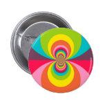 Caleidoscopio retro maravilloso del arco iris del  pin
