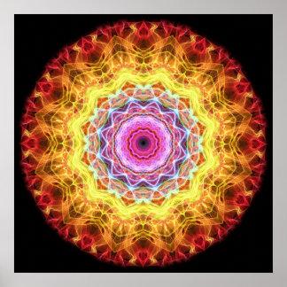 Caleidoscopio rosado de la pasión póster