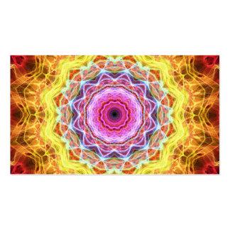 Caleidoscopio rosado de la pasión tarjetas de visita
