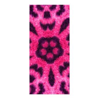 Caleidoscopio rosado de lujo de la flor del leopar lonas personalizadas