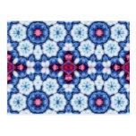 caleidoscopio rosado del azul de n postales