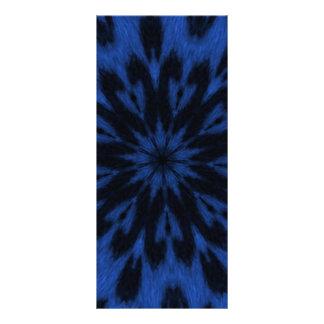 Caleidoscopio salvaje azul manchado del gato del l lonas personalizadas