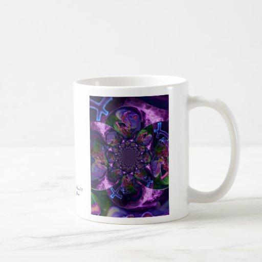 Caleidoscopio salvaje Saturn Taza De Café